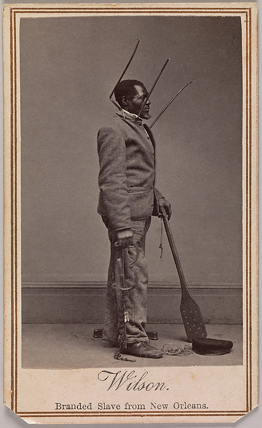 Charles Paxson (American, active New York, 1860s) 'Wilson, Branded Slave from New Orleans' 1863
