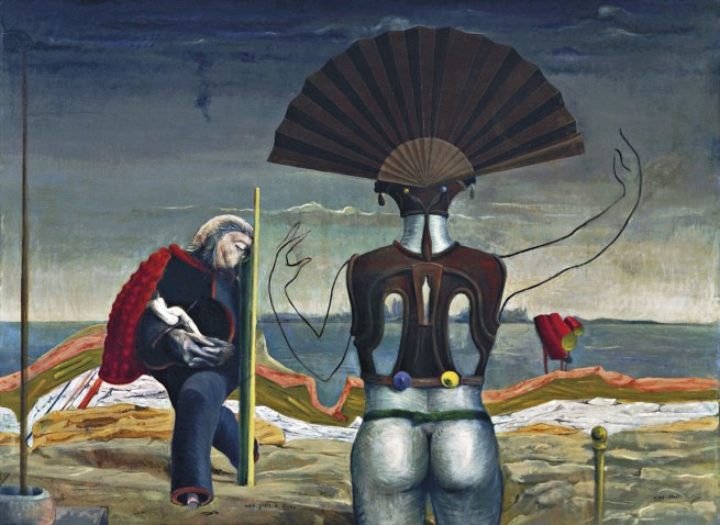 Max Ernst. Woman, Old Man, and Flower Weib, Greis und Blume 1924