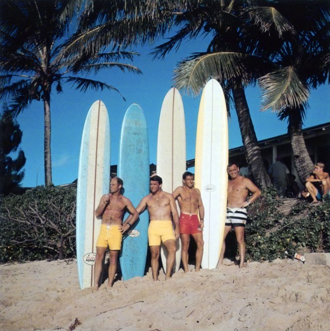 Leroy Grannis (American, 1917-2011) 'Greg Noll Surf Team at Duke Kahanamoku Invitational, Sunset Beach' 1966, printed 2005