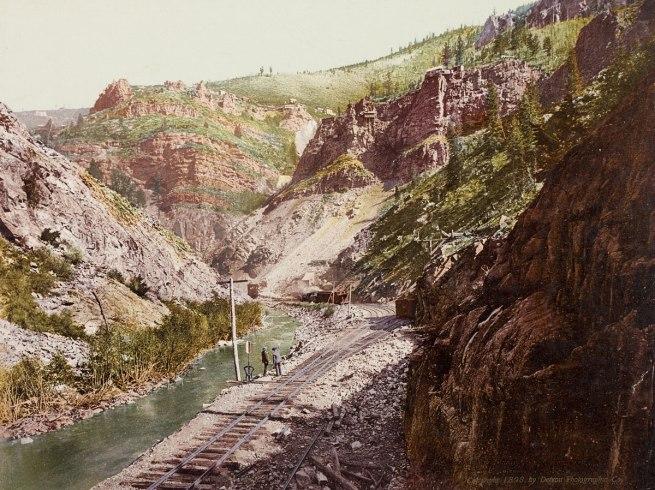 William Henry Jackson. 'Colorado Railway Mountain View' 1898