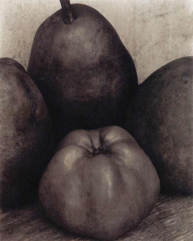Edward Steichen (1879-1973) 'Three Pears and an Apple, Voulangis, France' 1921