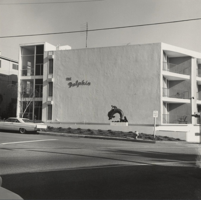 Ed Ruscha (American, born 1937) '708 S. Barrington Ave. [The Dolphin]' 1965