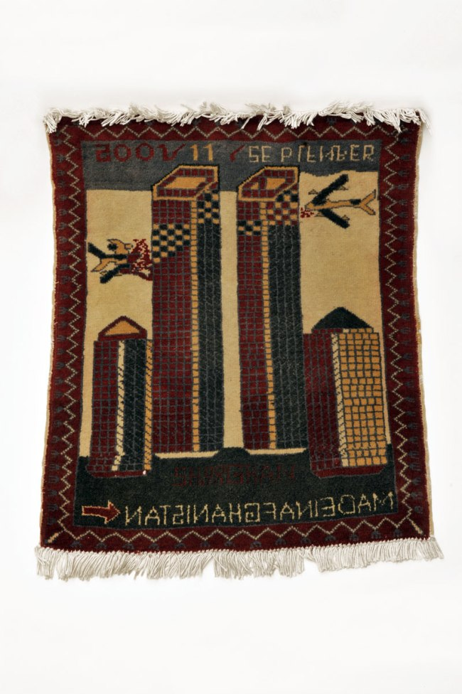 'Hand-knotted rug with motif for 9/11' Nd