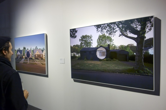 Installation photograph of Ian Strange 'Corrine Terrace' 2011 taken at the opening of the exhibition © Marcus Bunyan