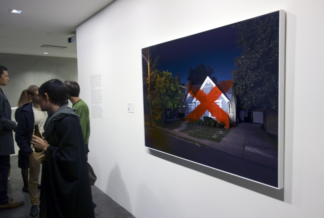 Installation photograph of Ian Strange 'Harvard St' 2012 taken at the opening of the exhibition © Marcus Bunyan