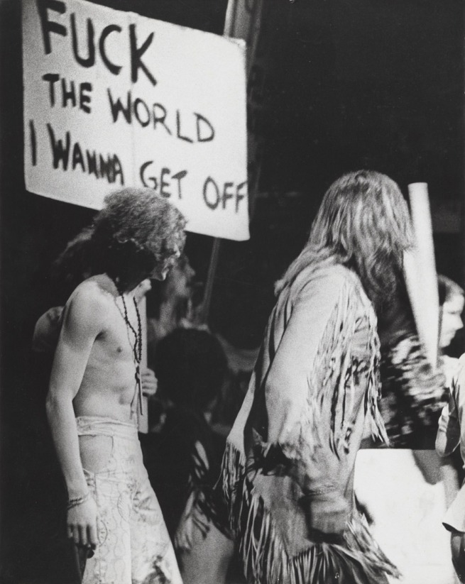 Carol Jerrems. 'Performers on stage,' Hair', Metro Theatre Kings Cross, Sydney, January 1970 [Jim Sharman Director cast included Reg Livermore]' 1970