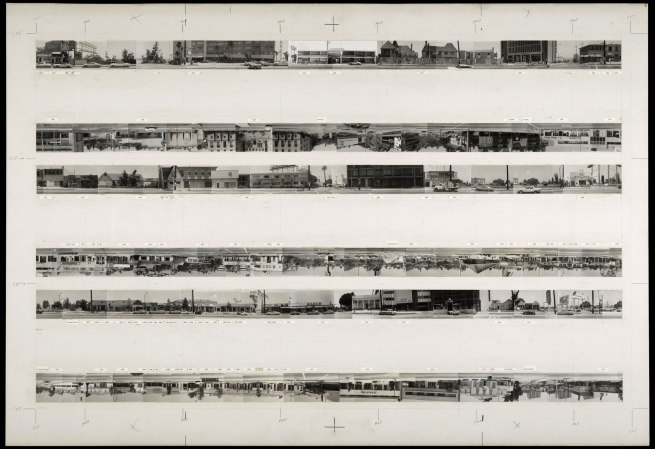 Ed Ruscha (American, born 1937) 'Camera-ready Maquette for Every Building on the Sunset Strip' 1966