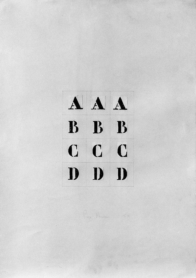Piero Manzoni (1933-1963) 'Alfabeto' (Alphabet) 1959