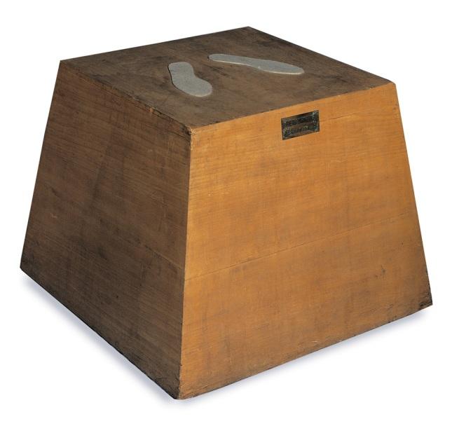 Piero Manzoni (1933-1963) 'Base magica - Scultura vivente' (Magic Base - Living sculpture) 1961