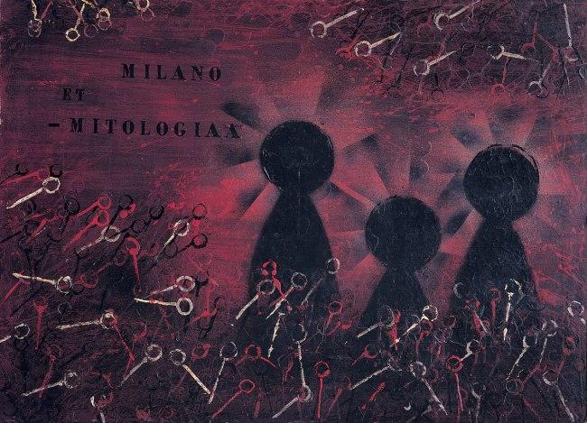 Piero Manzoni (1933-1963) 'Milano et-mitologiaa' (Milan and mythology) 1956