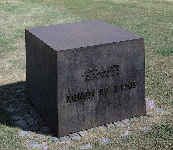 Piero Manzoni (1933-1963) 'Socle du monde' (Base of the world) 1961