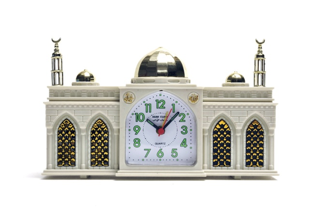'Mosque alarm clock in shape' Nd