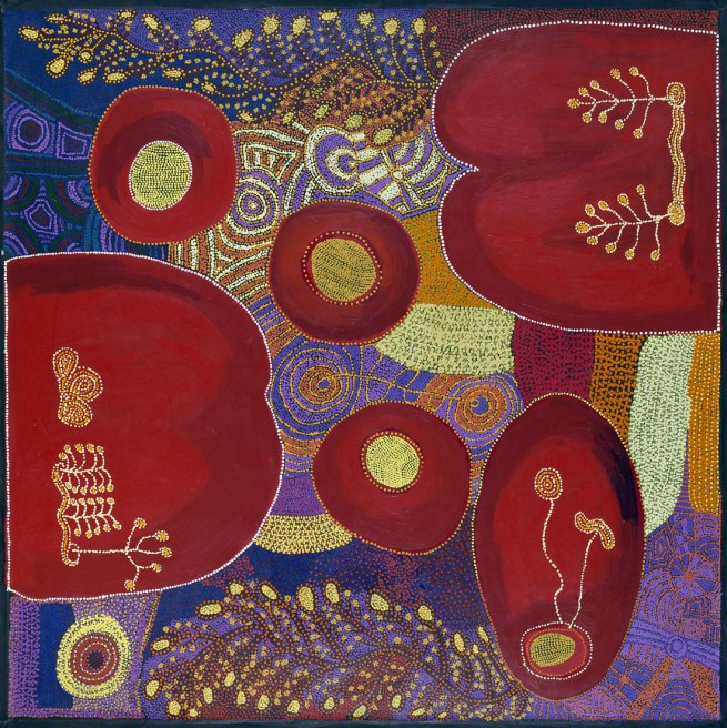 Ruby Tjangawa Williamson, Nita Williamson and Suzanne Armstrong. 'Ngayuku ngura (My country) Puli murpu (Mountain range)' 2012