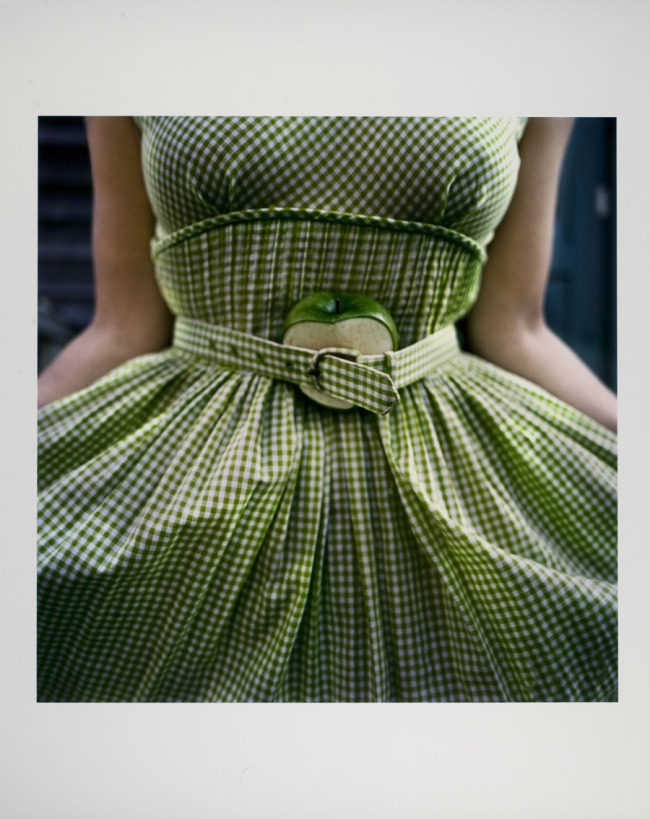 Cig Harvey (British, b. 1973) 'Gingham Dress with Apple' c. 2003