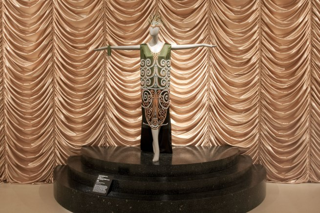 CALLOT SOUERS, Paris couture hours 1925 - 1937 Marie CALLOT GERBER designer France c. 1870 - 1927 'Dress' c.1925 silk, glass beads, metallic thread