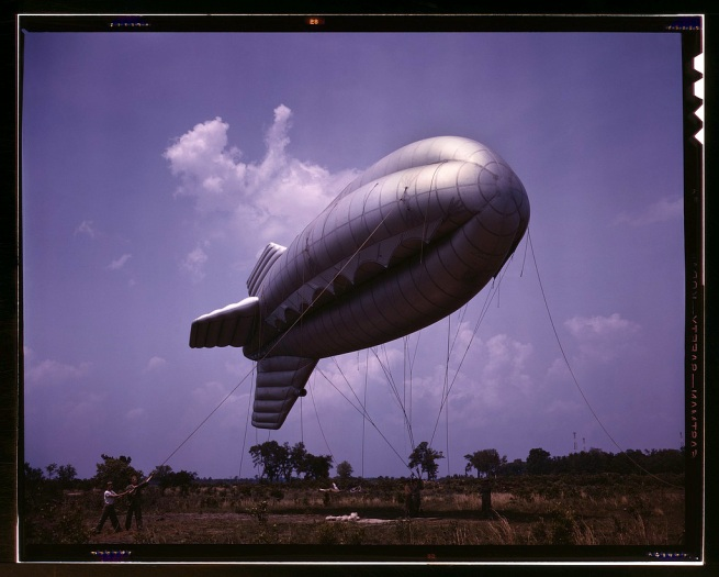 Alfred Palmer. 'Parris Island S.C., barrage balloon' May 1942