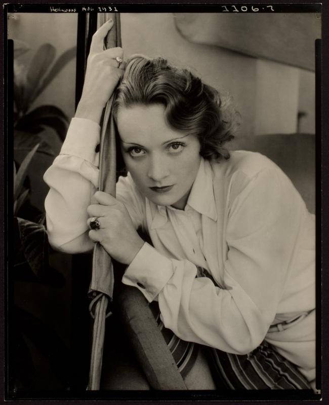 Edward Steichen (American, b. Luxembourg 1879-1973) 'Marlene Dietrich, The Teuton Siren' 1931