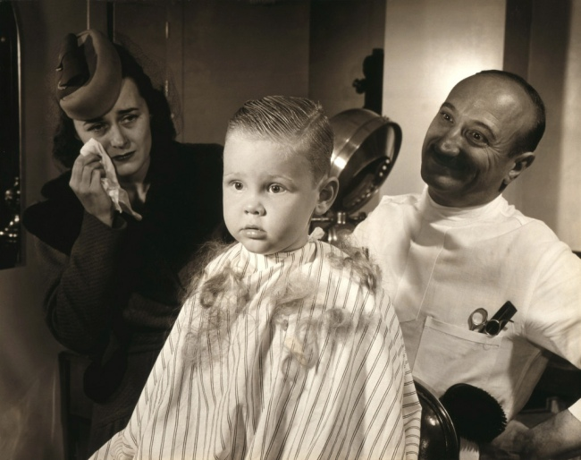 Victor Keppler (American, 1904-1987) 'First Hair Cut' 1943