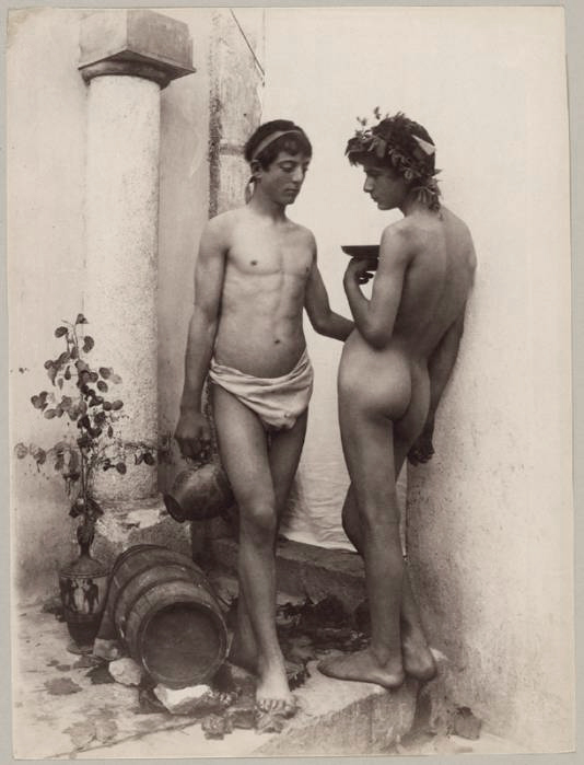 Wilhelm von Gloeden (1856-1931) 'Bacchanal' c. 1890s