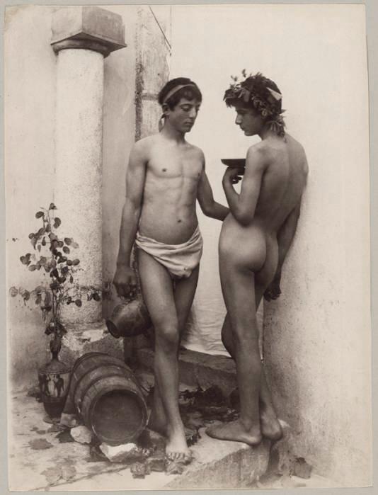 Wilhelm von Gloeden (1856 - 1931) 'Bacchanal' c. 1890s