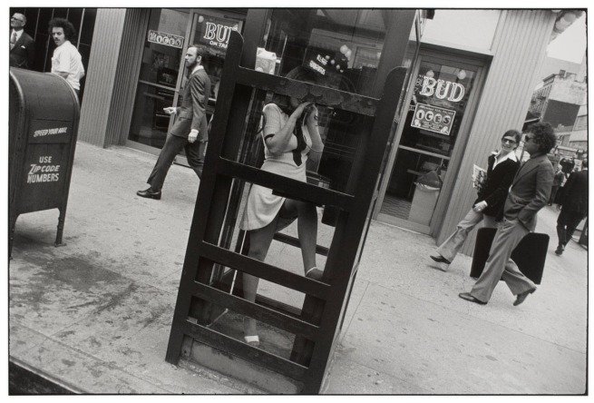 Garry Winogrand (American, 1928-1984) 'Untitled (Woman in a Telephone Booth, New York)' about 1972