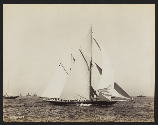 Nathaniel Livermore Stebbins 1847-1922 (Photographer) 'America's Cup Race: Start, Vigilant and Valkyrie' 1893-10-07