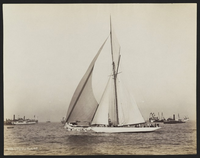 Nathaniel Livermore Stebbins 1847-1922 (Photographer) 'America's Cup Race: Vigilant at the mark' 1893-10-05