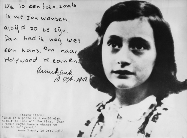 Unknown photographer. 'Anne Frank' 10th October 1942