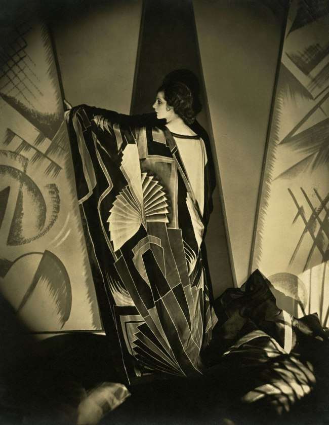 Edward Steichen (American 1879-1973, emigrated to United States 1881, worked in France 1906-23) 'Tamaris with a large Art Deco scarf' 1925