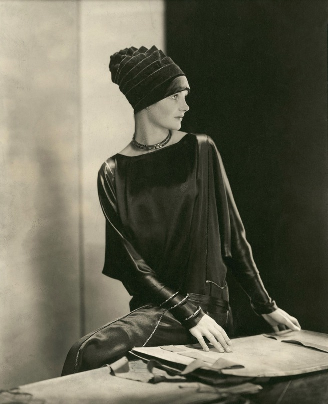 Edward Steichen (American 1879-1973, emigrated to United States 1881, worked in France 1906-23) Model 'Dorothy Smart wearing a black velvet hat by Madame Agnès' 1926