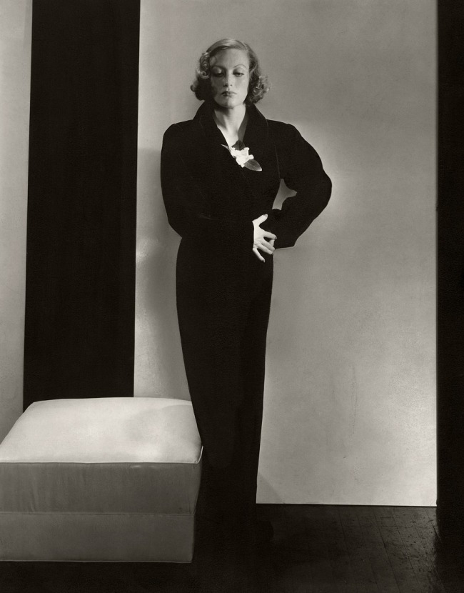 Edward Steichen (American 1879-1973, emigrated to United States 1881, worked in France 1906-23) Actress 'Joan Crawford in a dress by Schiaparelli' 1932
