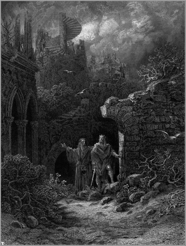 Gustave Doré. llustration of Lord Alfred Tennyson's 'Idylls of the King' 1868