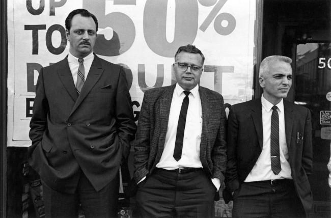 Enrico Natali. 'Spectators at a public demonstration, Detroit, 1968' 1968