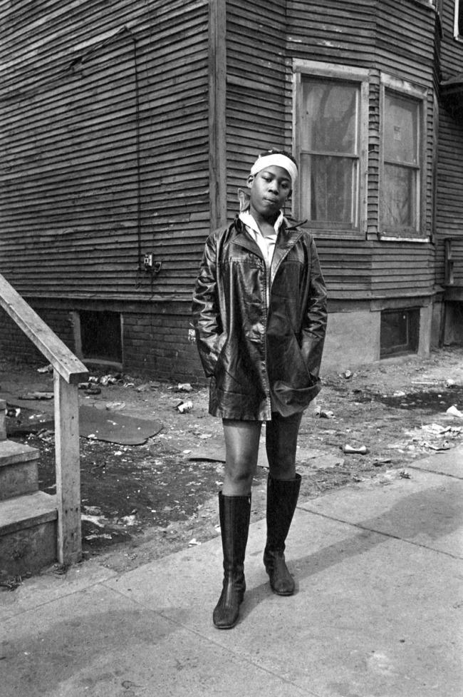 Enrico Natali. 'Young woman on a street, Detroit, 1968' 1968