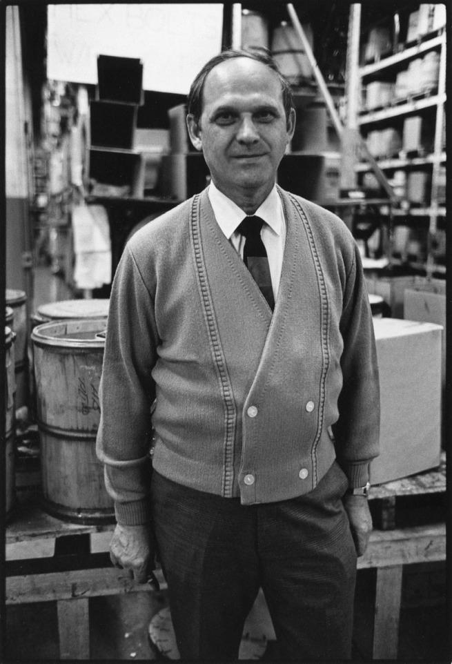 Enrico Natali. 'Warehouse foreman, Detroit, 1968' 1968