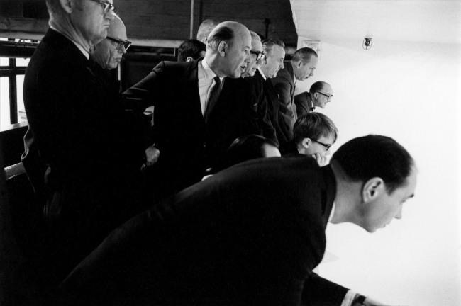 Enrico Natali. 'Businessmen at a squash match, Detroit, 1968' 1968
