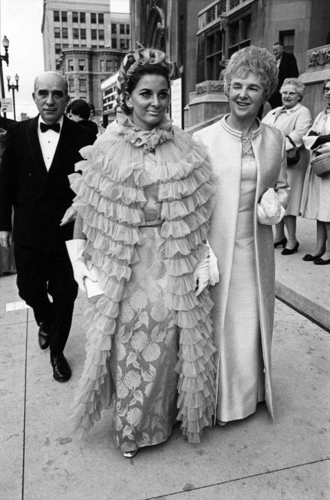Enrico Natali. 'Opening night at the Detroit Opera, Detroit, 1968' 1968