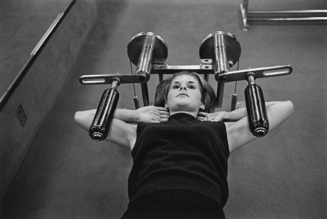 Enrico Natali. 'Woman at a gym, Detroit, 1968' 1968