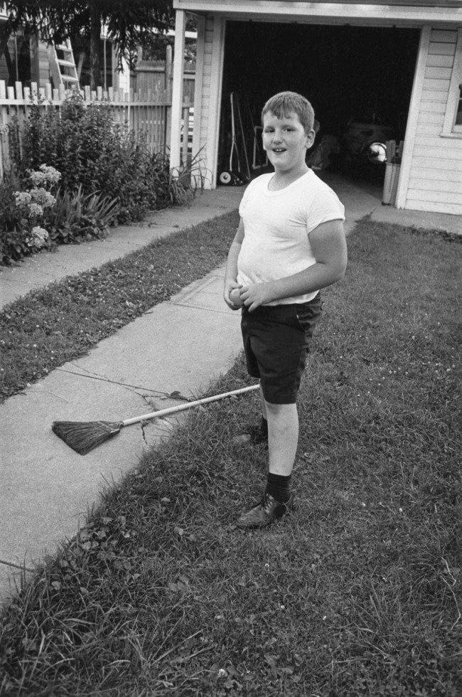 Enrico Natali. 'Boy in a backyard, Detroit, 1968' 1968