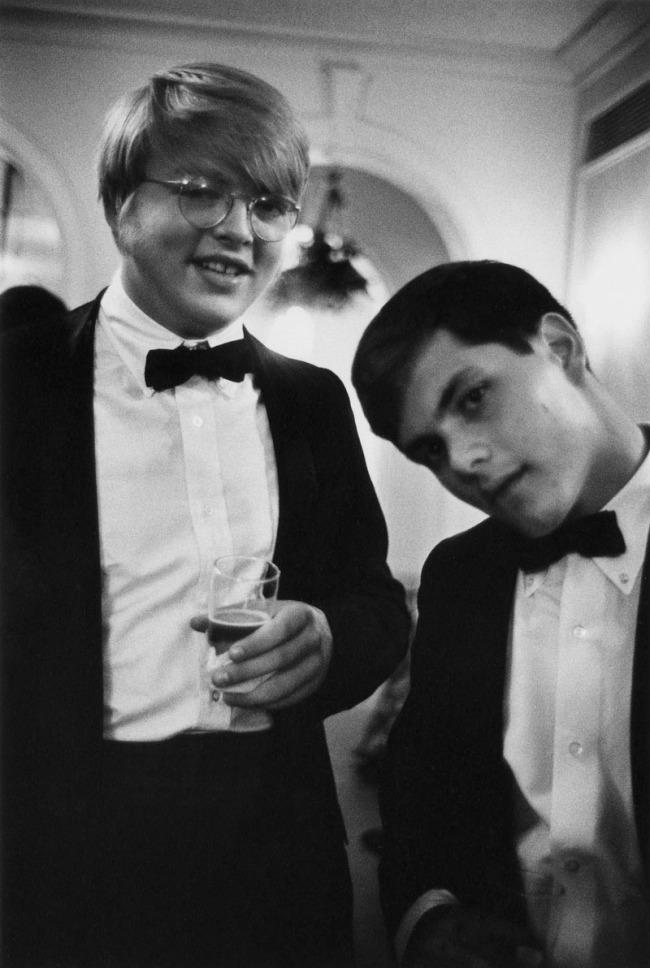 Enrico Natali. 'Young men at a debutante ball, Detroit, 1968' 1968