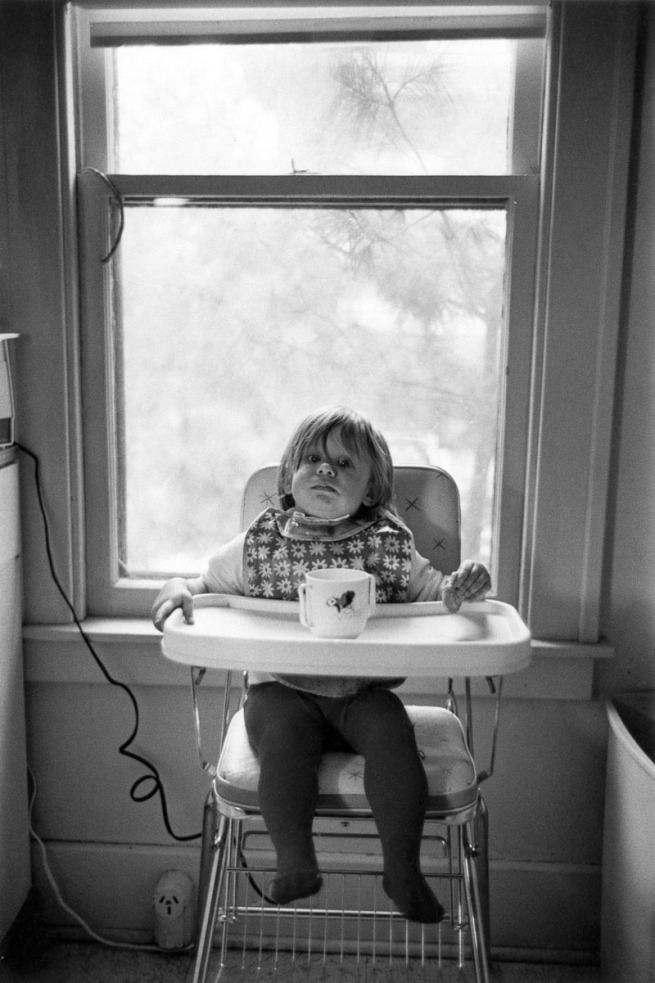 Enrico Natali. 'Ana Kuzick at home in high chair, Detroit, 1968' 1968