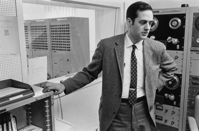 Enrico Natali. 'Programmer with computer, Detroit, 1968' 1968
