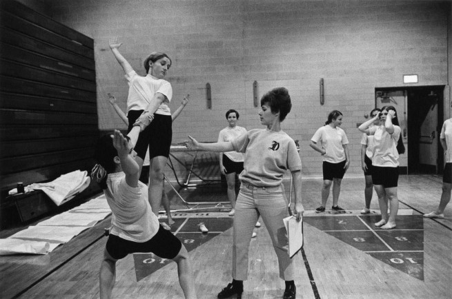 Enrico Natali. 'Women's gymnastics class, Detroit, 1968' 1968