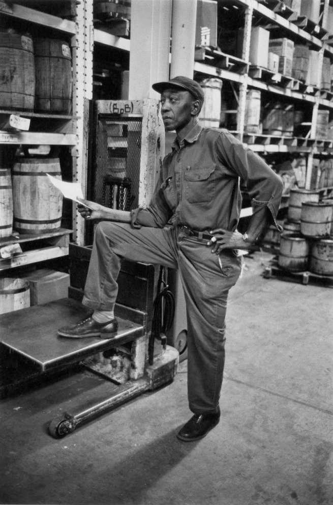 Enrico Natali. 'Warehouse worker, Detroit, 1968' 1968