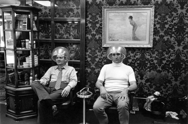 Enrico Natali. 'Men under hairdryers, Detroit, 1968' 1968