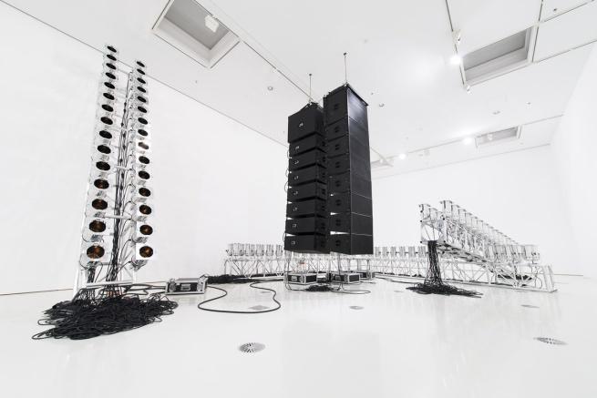 Marco Fusinato. 'Aetheric plexus (Broken X)' 2013 (installation view)