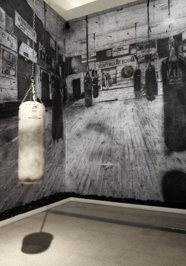 Richard Lewer. 'Northside Boxing Gym' 2013 (installation view detail)