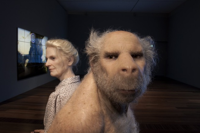 Patricia Piccinini born Sierra Leone 1965, lived in Italy 1968-72, arrived Australia 1972 'The carrier' (detail) 2012