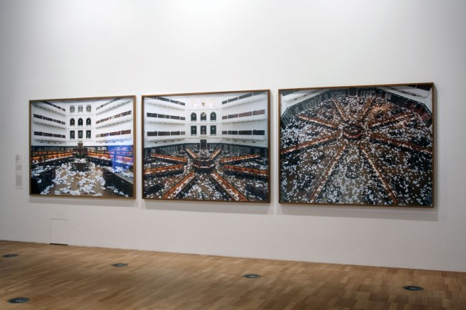 Ross Coulter. '10,000 paper planes – aftermath (1)' 2011 (installation view)