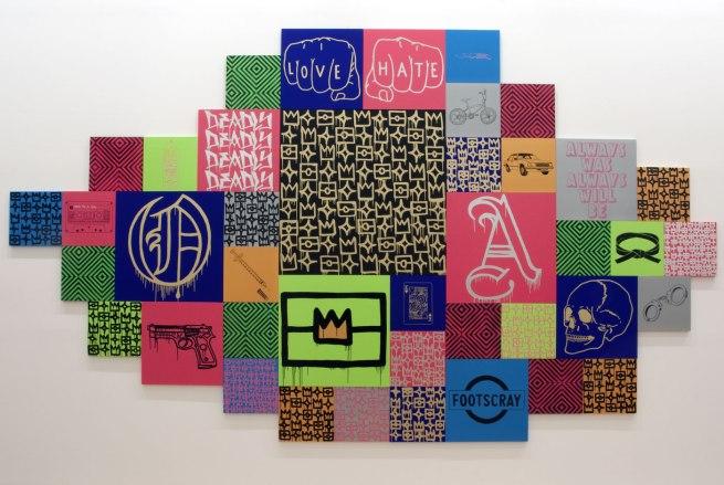Reko Rennie (Australian, Kamilaroi b. 1974) 'Initiation' 2013 (installation view)